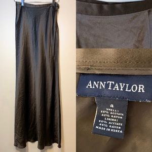 Ann Taylor | Maxi Satin Brown Skirt | 4
